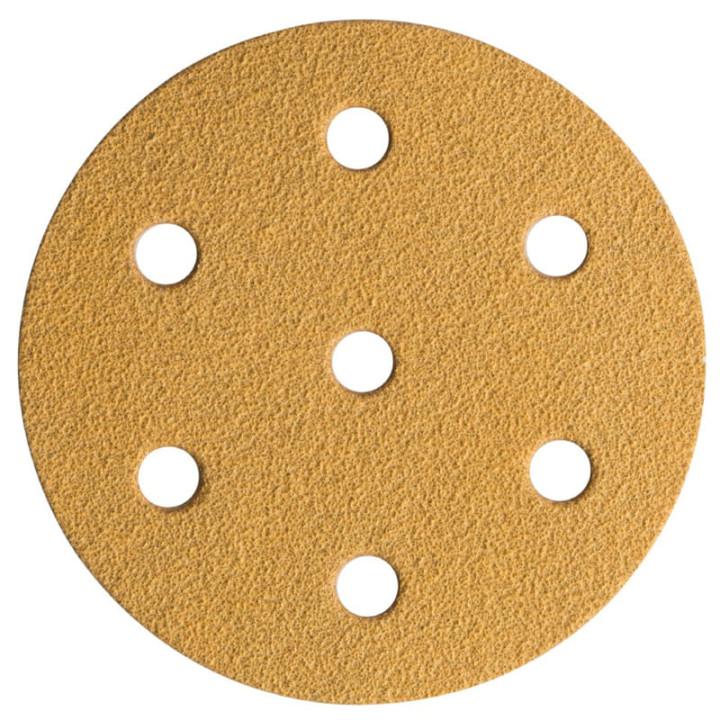 Шлиф мат на бум основе липучка GOLD 150мм 6+1 отв P280