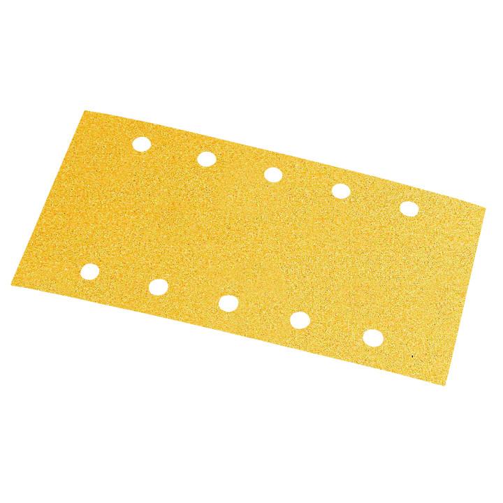 Шлиф мат на бум основе липучка GOLD 115x230мм 10 отв P180