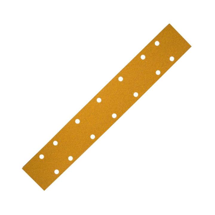 Шлиф мат на бум осн липучка GOLD 70x420мм 14 отв Р240