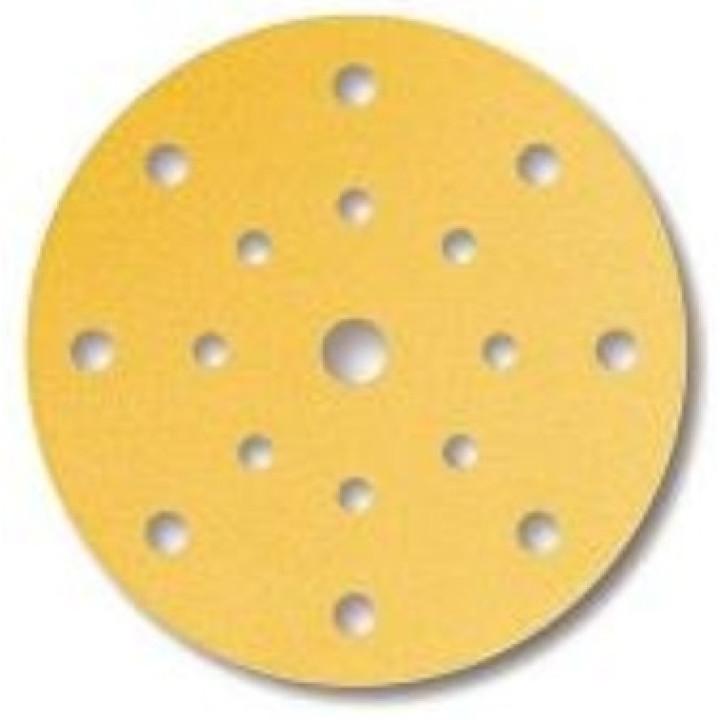 Шлиф мат на бум основе липучка GOLD 150мм 17 отв P240