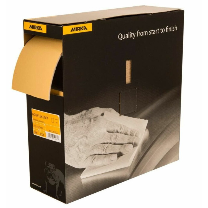 Шлифовальный материал Goldflex soft 115x125мм P1000 200 шт