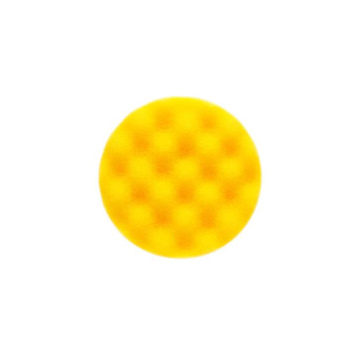 Рельефный поролоновый полировальный диск Mirka 85мм. желтый