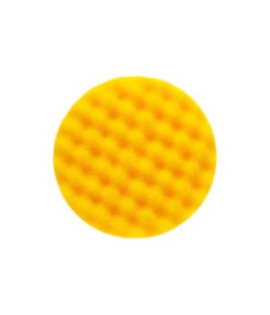 Желтый поролоновый полировальный диск Mirka 150 мм. рельефный. 2 шт/уп