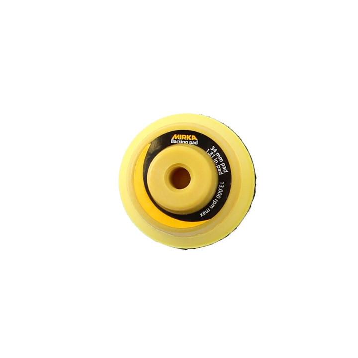 """Шлифовальные подошвы Mirka 34 мм без отв.,1/4"""" средней жесткости, липучка"""