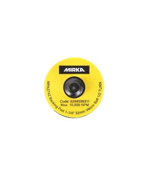 Шлифовальная подошва Mirka 32 мм QUICK LOCK. липучка. мягкая (10 шт в уп)