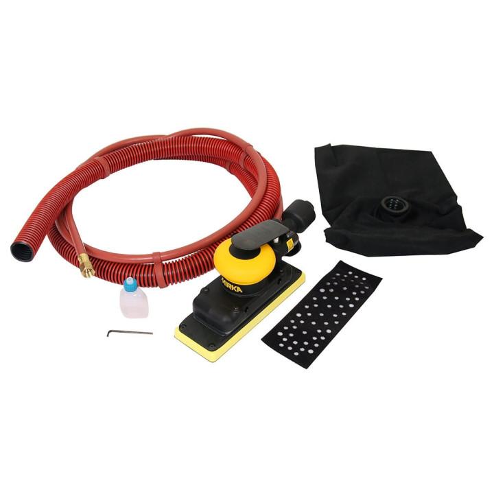 Шлифовальная пневматическая машинка MIRKA OS 383DB 70х198мм с мешком сбора пыли