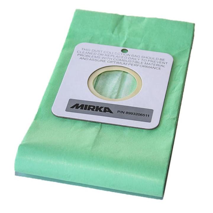 Комплект бумажных мешков Mirka для сбора пыли, для машинок DB, 10 шт